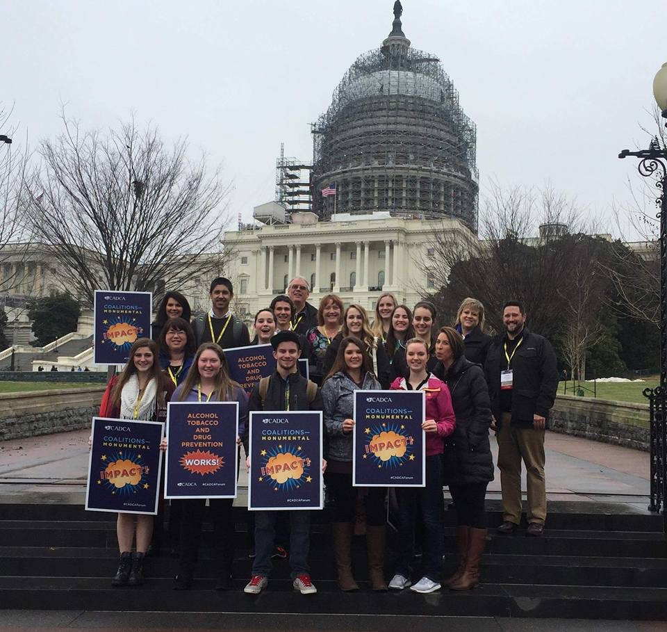 2016 Montana delegation Capitol Hill Day at the National CADCA Leadership Forum in Washington D.C.